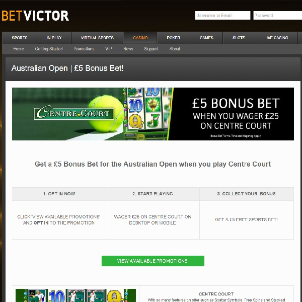 Receive a Free £5 Sports Bet at BetVictor Casino