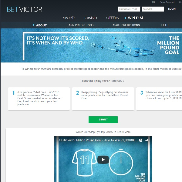 Win £1 million Cash at BetVictor This Summer