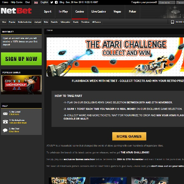 Win Prizes in NetBet's Atari Challenge Promotion