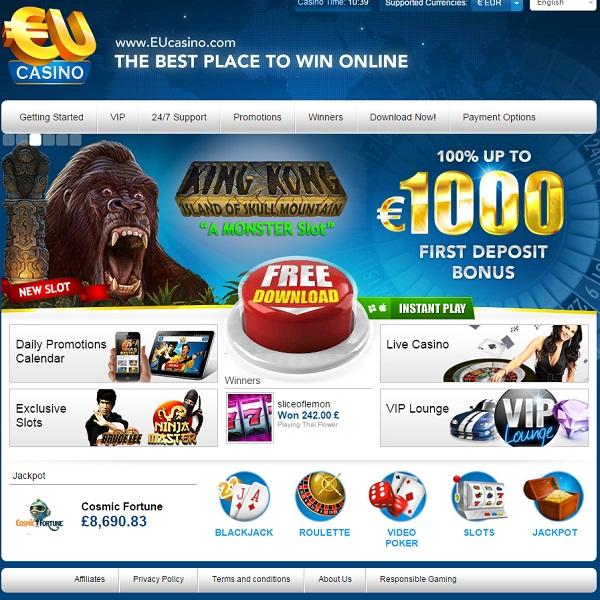 Enjoy Cashback and Bonuses at EU Casino on Monday
