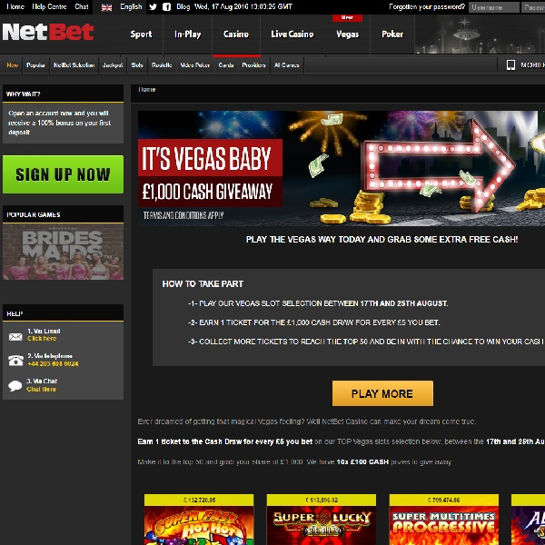 Win a Share of £1K Cash at NetBet Casino