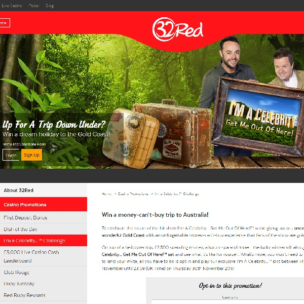 Win a Trip to Australia at 32Red Casino