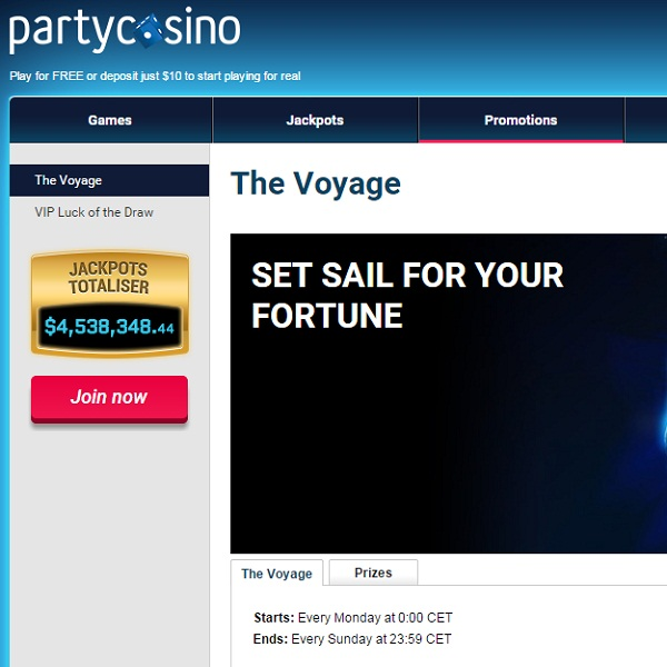 Climb the Leaderboard for Bonus Cash at Party Casino