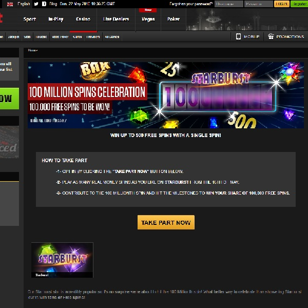 Win a Share of 100,000 Free Spins at NetBet Casino