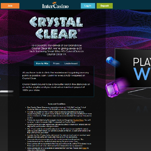 """Final Chance to Win a 55"""" Curved TV at InterCasino"""