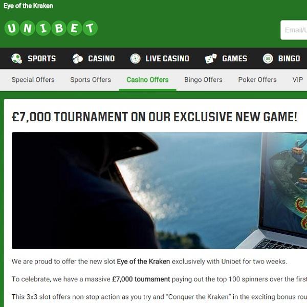 Unibet Casino Runs £7,000 Eye of the Kraken Slot Tournament