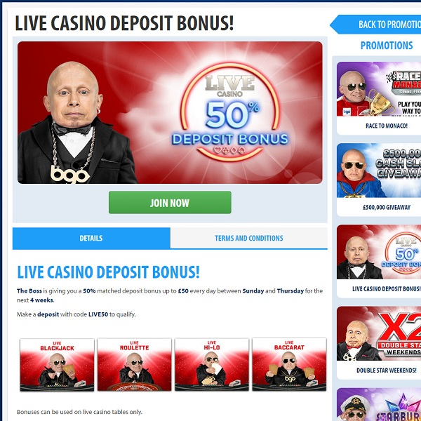 Enjoy a Double Live Dealer Promotion at BGO