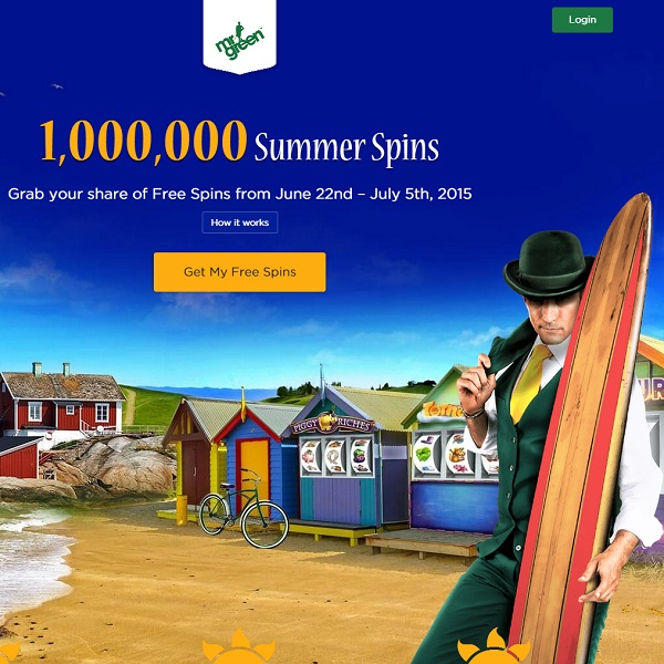 Mr Green Casino Gives Away 1 Million Free Spins