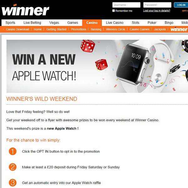 Win an Apple Watch at Winner Casino This Weekend