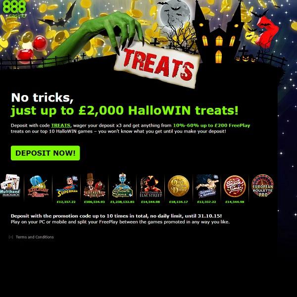 Enjoy Halloween Free Play at 888 Casino