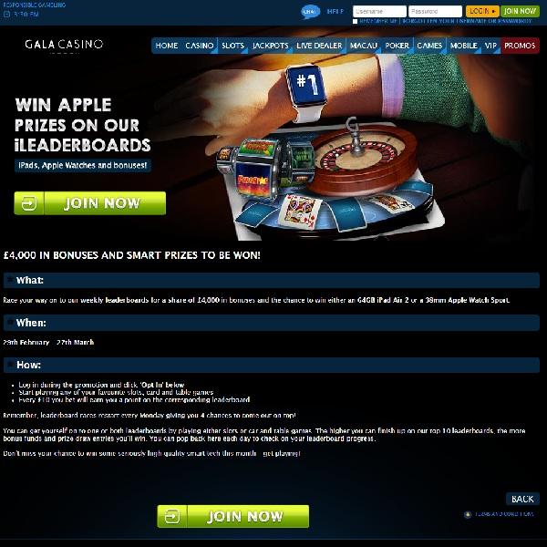 Win Bonuses and Prizes at Gala Casino