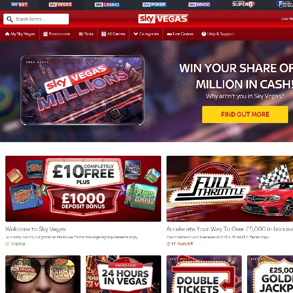 Receive a £50 Bonus to Play Vegas Lights at Sky Vegas