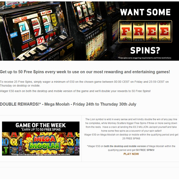 Receive Up to 50 Free Spins at BetVictor This Week