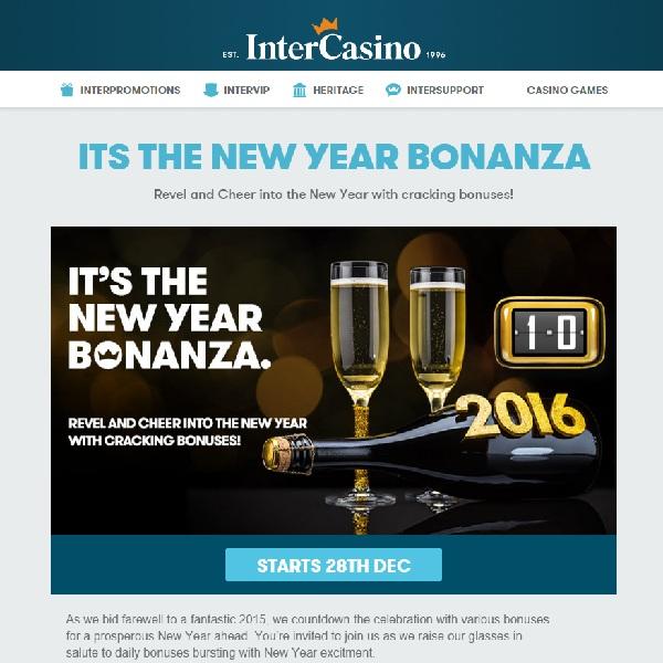 Enjoy InterCasino's New Year Bonus Bonanza