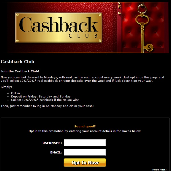 Casino.com Cashback Club Offers Weekly 20% Cashback