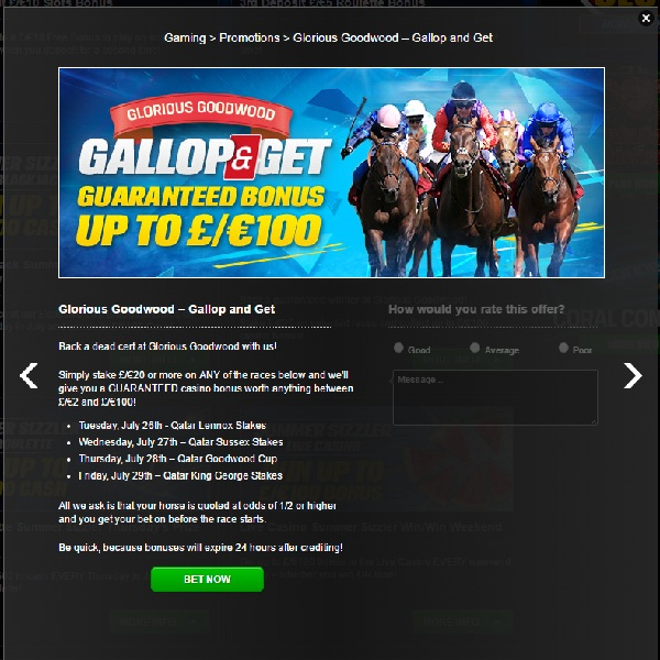 Back a Horse and Get a Casino Bonus at Coral