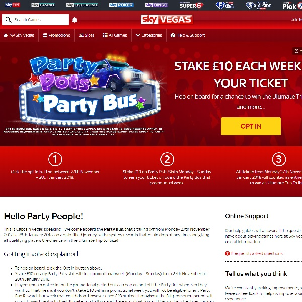 Win a Trip to Ibiza at Sky Vegas Casino
