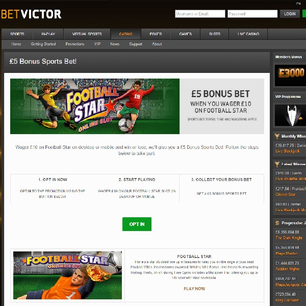 Receive a Free £5 Bet at BetVictor Today