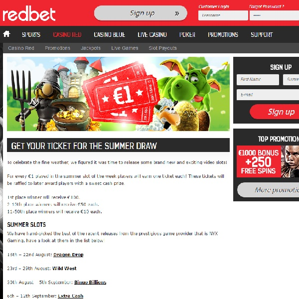 Win Cash Prizes in Redbet's Summer Draw Promotion