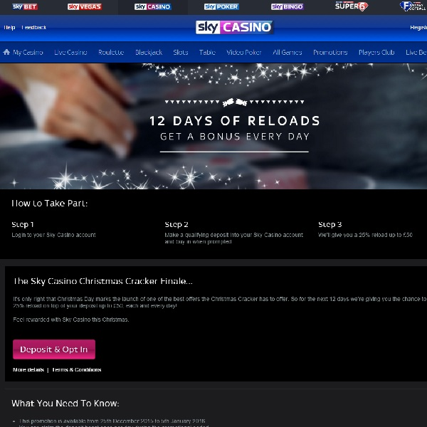 Enjoy £300 of Bonuses at Sky Casino