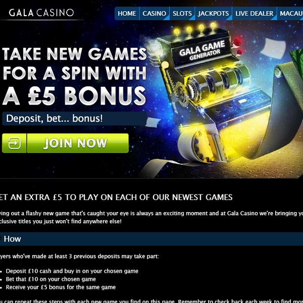 Gala Casino Celebrates New Game Releases with £5 Bonuses
