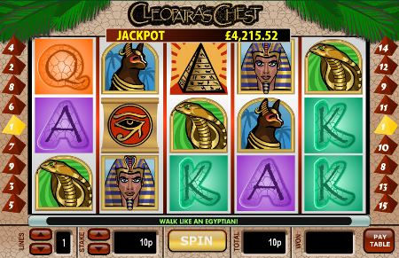Cleopatra's Chest is about to burst with a £1.4m progressive jackpot