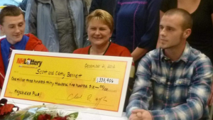 A family in New Hampshire had an extremely merry Christmas after they won a $2 million jackpot because a convenience store clerk sold them the wrong ticket.