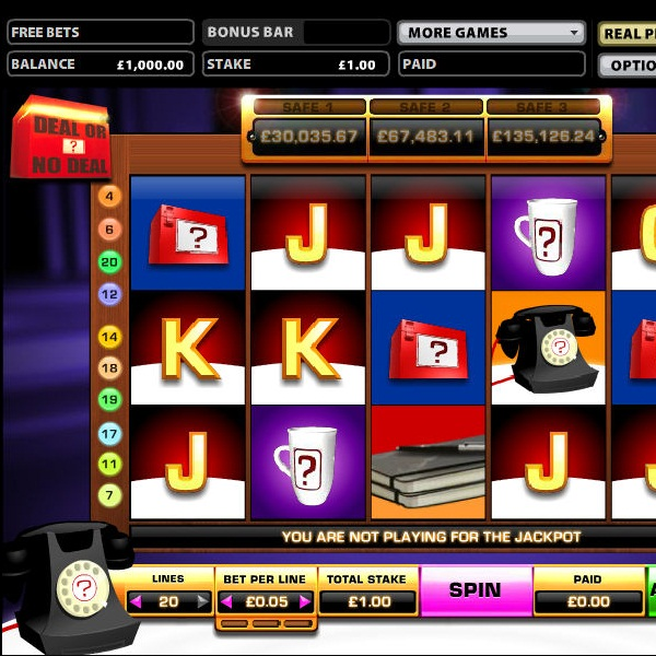 Deal or No Deal Banker's Riches Video Slot at Sky Vegas Exceeds £261K
