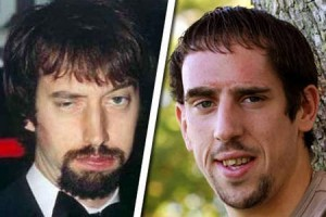 Franck Ribery and Tom Green