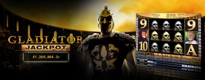 Gladiator Online Casino Jackpot Reaches €1.3 million