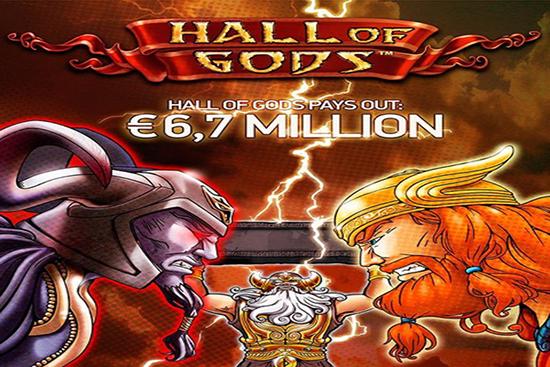 Hall of Gods Pays Out €6.7 Million Jackpot