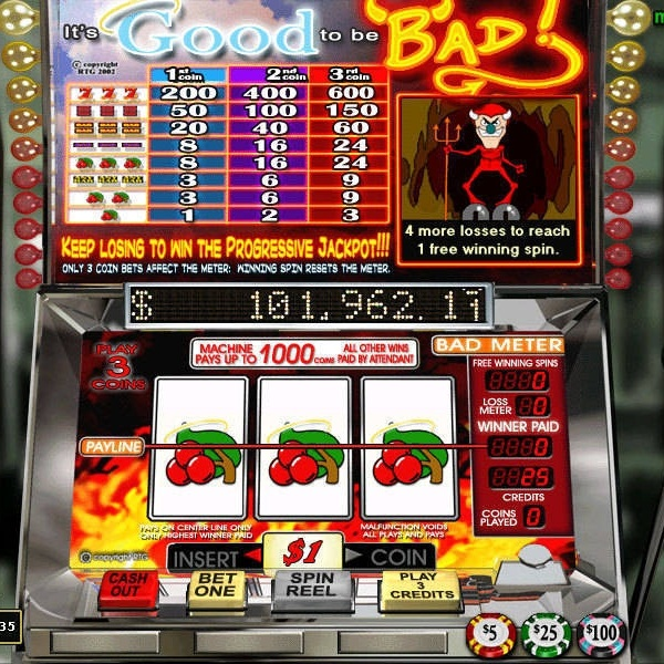 $143K It's Good To Be Bad Progressive Jackpot Available at Bodog Casino