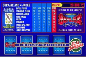 SuperJax Video Poker Progressive Jackpot Pays Out £52,314