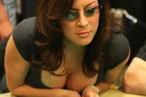 Jennifer Tilly at a poker table