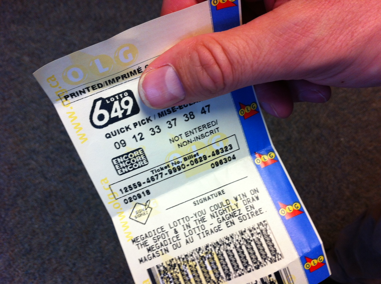 Lotto 6 49 Results Canada
