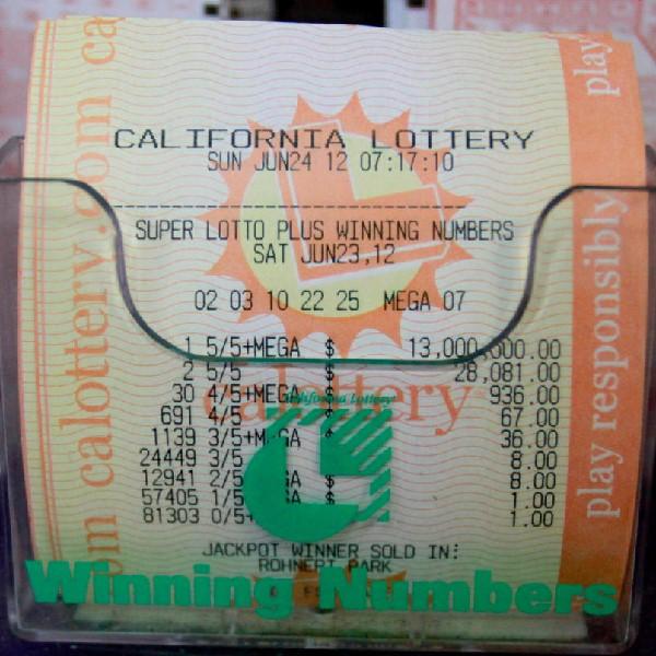 California SuperLotto Plus Jackpot Reaches $10 Million for Saturday's Draw