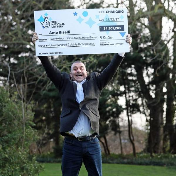 Taxi Driver Celebrates £24.5 Million Lottery Win