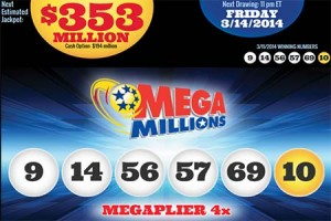 Mega Millions Jackpot Tops $353 Million