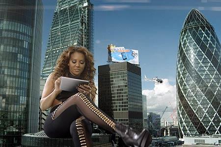 Mel B Terrorises London in Online Bingo Campaign