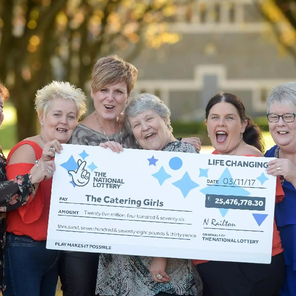 NHS Dinner Ladies Share £25 Million EuroMillions Win