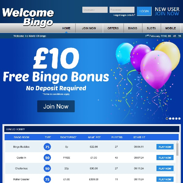 Welcome Bingo Offers a Fantastic Selection of Games