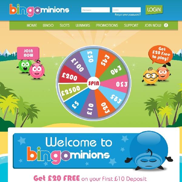 Bingo Minions Offers Top Gaming and Bonuses