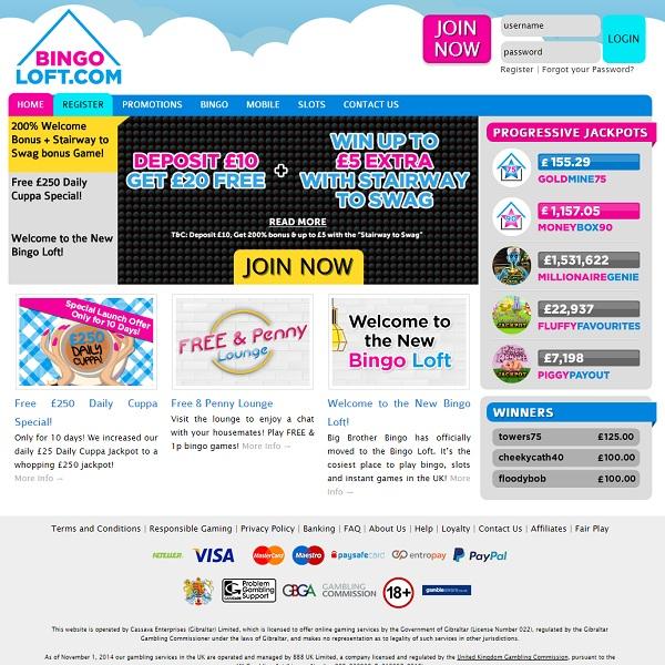 Bingo Loft Offers Multiple Bingo Promotions
