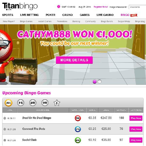 Titan Bingo Relaunched With Huge Guaranteed Prizes