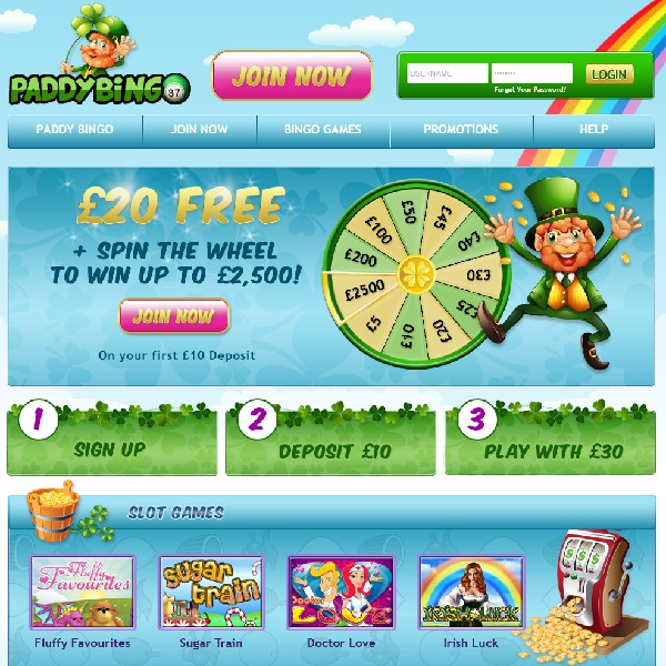 Paddy Bingo Launches With Some Irish Luck