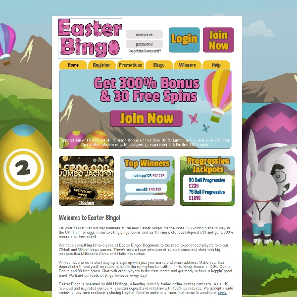 Easter Bingo Launches With Huge Bonuses