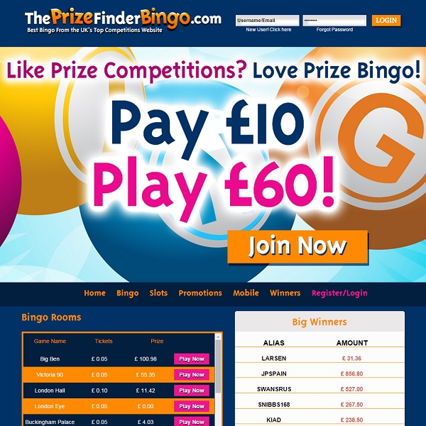 The Prize Finder Bingo Brings the Best UK Bingo