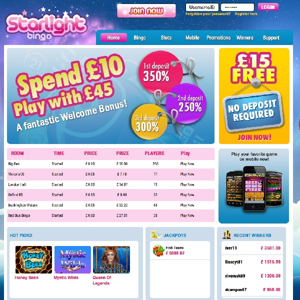 Starlight Bingo Goes Live with Mobile Play