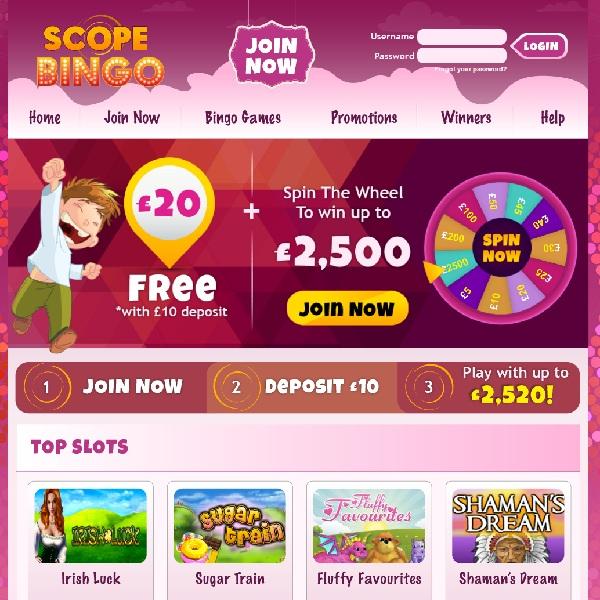 Scope Bingo Makes Room for More Bingo