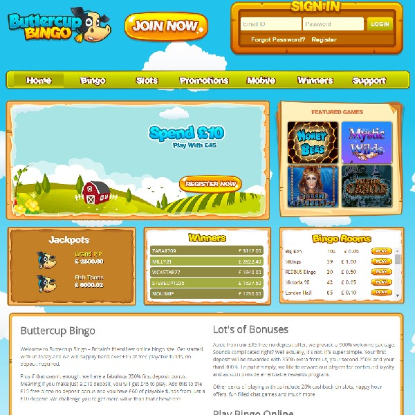 Buttercup Bingo Launched With Loads of Giveaways